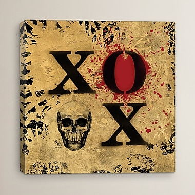 Varick Gallery Heart Of Gold V by Art Licensing Studio Print Painting on Wrapped Canvas