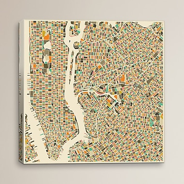 Varick Gallery Abstract City Map of New York City by Jazzberry Blue Graphic Art on Wrapped Canvas