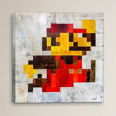 Varick Gallery Post Modern Mario by Francis Ward Print Painting on Wrapped Canvas