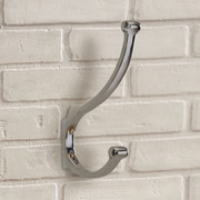Varick Gallery Shubert Alley Classic Coat and Hat Hook; Brushed Chrome