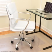 Varick Gallery Kendall Leather Desk Chair; White