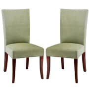 Varick Gallery Glenmore Side Chair Set Of 2 in Polyester - Green (Set of 2)