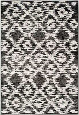 Varick Gallery Schacher Charcoal/Ivory Area Rug; 6' x 9'