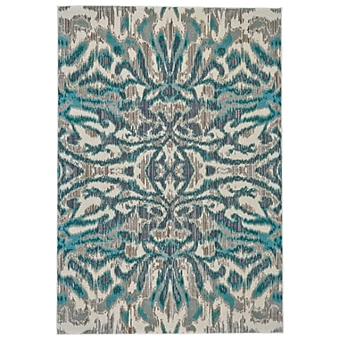 Varick Gallery Sutton Place Aqua/Haze Area Rug; 7'10'' x 11'