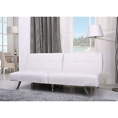 Varick Gallery Rosehill Convertible Sofa; White