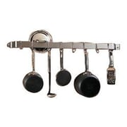 Varick Gallery 36'' Wall Mounted Pot Rack; Hammered Steel / Chrome