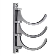 Varick Gallery 5'' Triple Coat Hook; Brushed Chrome