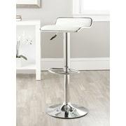 Varick Gallery Wagenen Adjustable Height Swivel Bar Stool; White