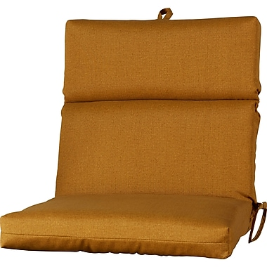 Varick Gallery Outdoor Dining Chair Cushion; Husk Texture Ginger