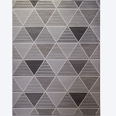 Varick Gallery Sanderlin Gray Area Rug; 2'8'' x 3'11''
