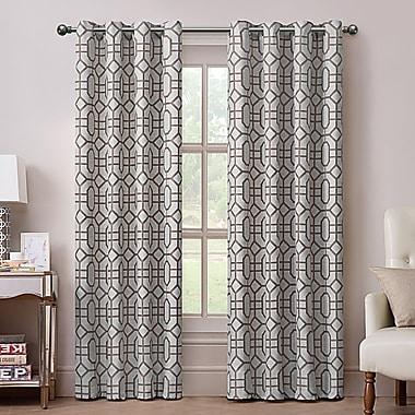 Varick Gallery East Drive Grommet Drape Single Curtain Panel; Chocolate