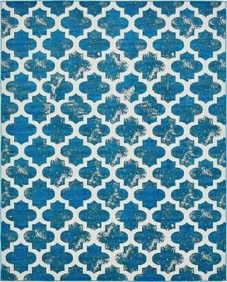 Varick Gallery Sarno Turquoise Indoor/Outdoor Area Rug; 8' x 10'