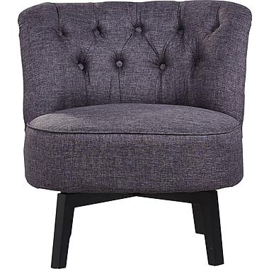Varick Gallery Santillan Swivel Slipper Chair; Dark Gray