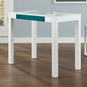 Varick Gallery Oday Writing Desk; White / Teal