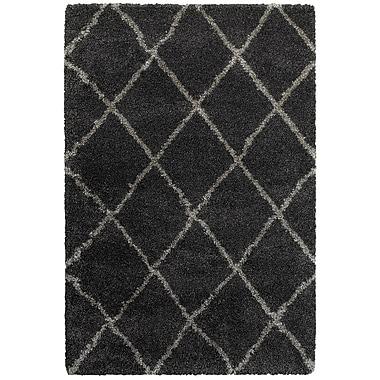 Varick Gallery Sayer Charcoal/Gray Area Rug; Runner 2'3'' x 7'6''