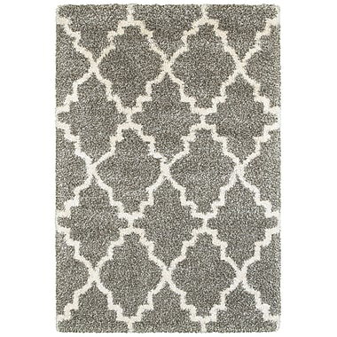 Varick Gallery Sayer Gray/Ivory Area Rug; 1'10'' x 3'3''