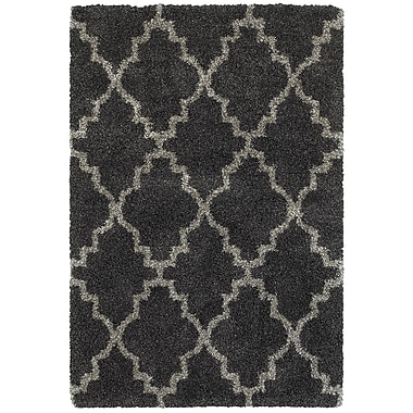 Varick Gallery Sayer Charcoal/Gray Area Rug; 5'3'' x 7'6''