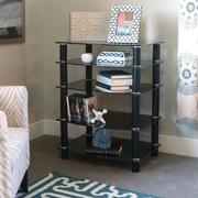 Varick Gallery Batista Multi-Level Component Stand w/ Shelves; Black