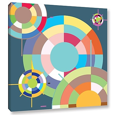 Varick Gallery Geo Wheel Graphic Art on Wrapped Canvas; 18'' H x 18'' W
