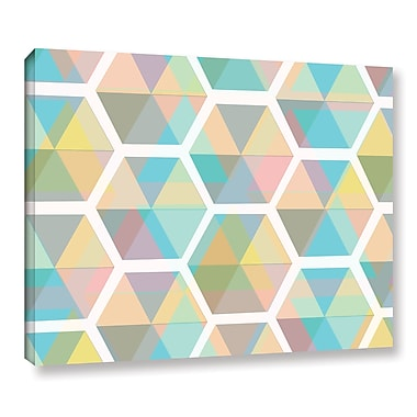 Varick Gallery Hive Graphic Art on Wrapped Canvas; 8'' H x 10'' W