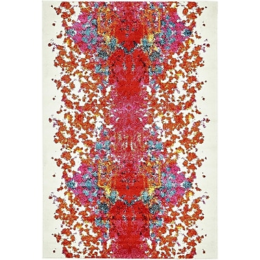 Varick Gallery Shuman Red Area Rug; 4' x 6'