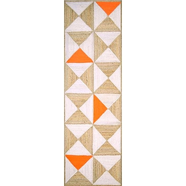 Varick Gallery Sherrick Handmade Orange/Beige Area Rug; 4' x 6'