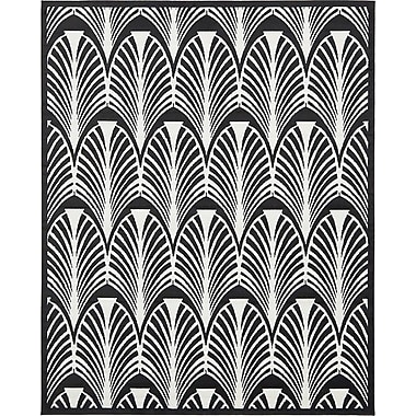 Varick Gallery Sidney Black Area Rug; 4' x 6'
