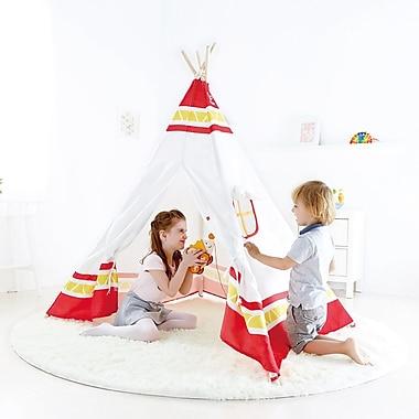 Hape Teepee Tent, Red (E4307)
