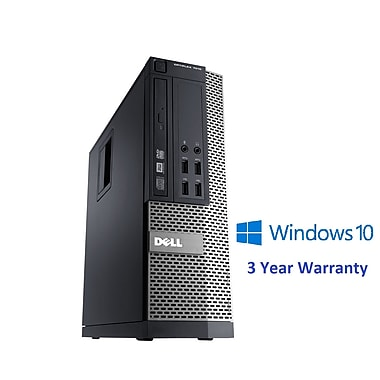 Dell - PC de table OptiPlex 7010 SFF remis à neuf, 3,4 GHz Intel Core i3-3240, SSD 240 Go, 16 Go DDR3, Windows 10 Pro