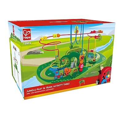 Hape Jungle Play & Train Activity Table (E3801)