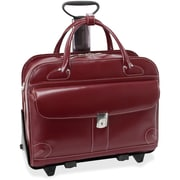 "McKleinUSA 15.4"" Leather Fly-Through™ Checkpoint-Friendly Patented Detachable -Wheeled Ladies' Laptop Briefcase (96616)"
