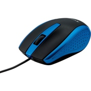 Verbatim Corded Notebook Optical Mouse, Blue (99743)