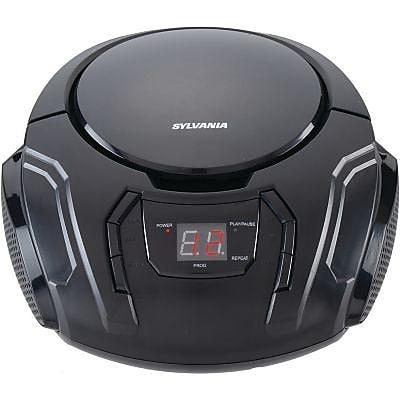 Sylvania Srcd261-b-black Portable Cd Players with AM/FM Radio (black)