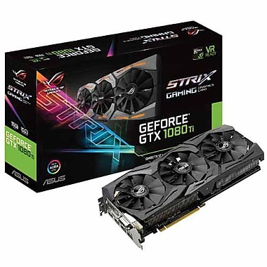 ASUS® ROG STRIX-GTX1080TI-11G-GAM Strix NVIDIA GeForce® GDDR5X PCI Express 3.0 11GB Gaming Graphic Card