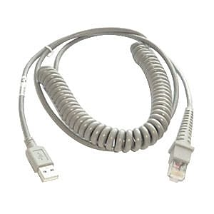 Datalogic 9' USB PSC Coiled Cable for Gryphon Desk D432 2D Scanner (90A052043)