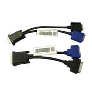 Dell™ 5H469 Dual DVI-I To VGA Male/Female Y Cable Kit, Black