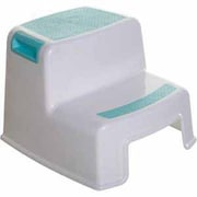 Dreambaby® 2-Up Step Stool with Sure-Grip Top, Aqua/White (L685)