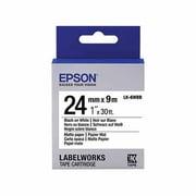 "Epson® 1"" Matte Paper Tape Cartridge, Black On White"