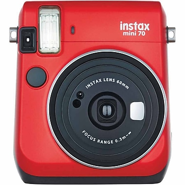 Fujifilm instax Mini 70 Camera with Mini Candypop Film, 60 mm, Passion Red