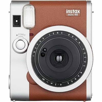 Fujifilm instax Mini 90 Neo Classic Camera with Mini Candypop Film, 60 mm, Brown