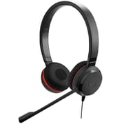 Jabra® Evolve 30 II UC Stereo Headset Kit with Noise Cancelling Microphone, Black