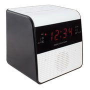 "La Crosse® 4.25"" x 3.75"" x 4"" Desktop FM Clock Radio (30118)"