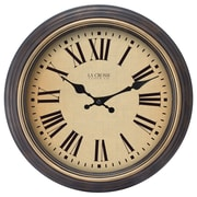 "La Crosse® 18"" x 2 1/2"" Black Analog Wall Clock (404-3045BK)"