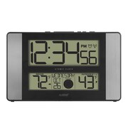"La Crosse® Indoor/Outdoor 11.1"" x 1.14"" x 6.61"" Atomic Digital Wall Clock (513-1417AL-INT)"