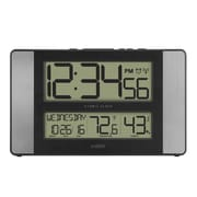 "La Crosse® Indoor 11.1"" x 1.14"" x 6.61"" Atomic Digital Wall Clock (513-1417H-AL)"