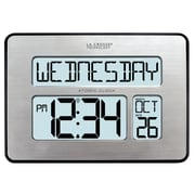 "La Crosse® 9 3/4"" x 1"" x 7 1/2"" Atomic Digital Wall Clock (513-1419BLV3-INT)"