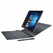 "Samsung Galaxy Book SM-W720NZKAXAR-KIT 12"" Tablet Kit, 256GB SSD, Windows 10 Home, Silver"