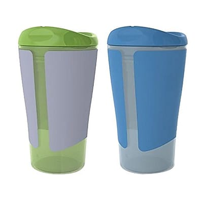 Summer Infant Born Free Grow with Me Big Kid Cup, Green/Blue, 2/Pack (47980) IM16F4429