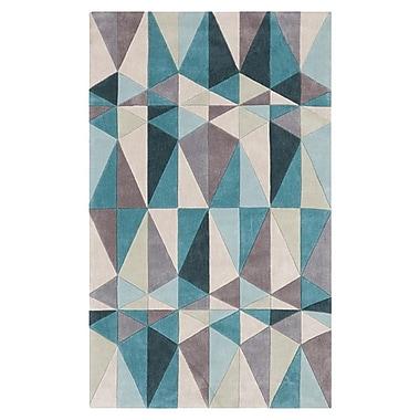 Varick Gallery Conroy Teal Blue/Blue Haze Area Rug; 5' x 8'