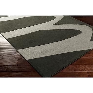 Varick Gallery Nida Hand-Tufted Black/Gray Area Rug; 5' x 7'6''
